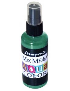 "Краска - спрей ""Aquacolor Spray ""для техники ""Mix Media"" темно-зеленый, 60 мл, Stamperia (Италия)"