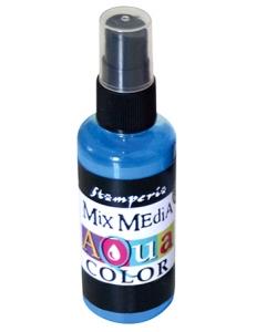"Краска - спрей ""Aquacolor Spray ""для техники ""Mix Media"" светло-синий, 60 мл, Stamperia (Италия)"