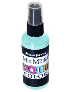 """Краска - спрей """"Aquacolor Spray """"для техники """"Mix Media"""" акварельный зеленый, 60 мл, Stamperia (Италия)"""