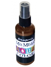 """Краска - спрей """"Aquacolor Spray """"для техники """"Mix Media"""" коричневый, 60 мл, Stamperia (Италия)"""