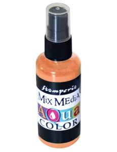 """Краска - спрей """"Aquacolor Spray """"для техники """"Mix Media"""" оранжевый, 60 мл, Stamperia (Италия)"""