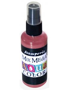 "Краска - спрей ""Aquacolor Spray ""для техники ""Mix Media"" красное дерево, 60 мл, Stamperia (Италия)"