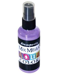 "Краска - спрей ""Aquacolor Spray ""для техники ""Mix Media"" сиреневый, 60 мл, Stamperia (Италия)"