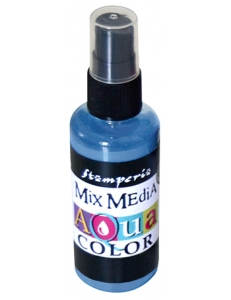 "Краска - спрей ""Aquacolor Spray ""для техники ""Mix Media"" синий, 60 мл, Stamperia (Италия)"