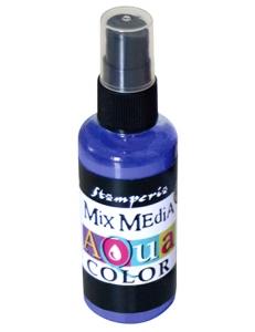 """Краска - спрей """"Aquacolor Spray """"для техники """"Mix Media"""" фиолетовый, 60 мл, Stamperia (Италия)"""