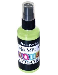 """Краска - спрей """"Aquacolor Spray """"для техники """"Mix Media"""" лайм, 60 мл, Stamperia (Италия)"""