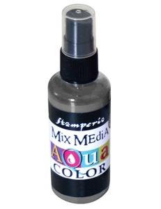"Краска - спрей ""Aquacolor Spray ""для техники ""Mix Media"" графит, 60 мл, Stamperia (Италия)"