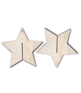 Заготовка фигурка Звезда объемная, фанера, 14х14 см, Stamperia (Италия)