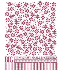 """Трафарет пластиковый для росписи KSD306 """"Маленькие цветы"""", 15х20 см, Stamperia (Италия)"""