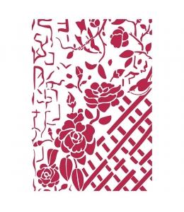 "Трафарет пластиковый KSG440 ""Плетистые розы"", 21х29,7 см, Stamperia"