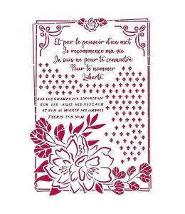 "Трафарет пластиковый KSG457 ""Романтика - цветок с рамкой"", 21х29,7 см, Stamperia"