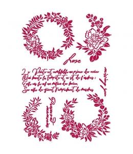 "Трафарет пластиковый KSG461 ""Романтика - журнал - гирлянда"", 21х29,7 см, Stamperia"