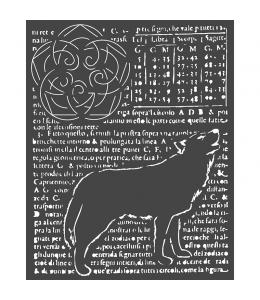 """Трафарет объемный """"Волк"""", толщина 0,5 мм, 20х25 см, Stamperia KSTD057"""