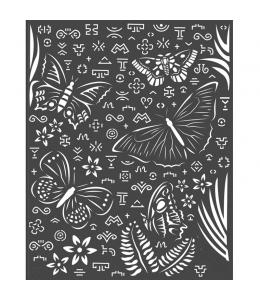 """Трафарет объемный """"Амазония - бабочки"""", толщина 0,5 мм, 20х25 см, Stamperia KSTD064"""