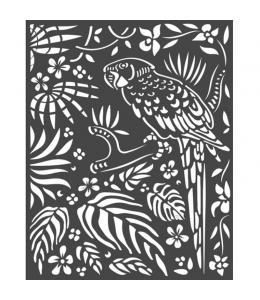 """Трафарет объемный """"Амазония - попугай"""", толщина 0,5 мм, 20х25 см, Stamperia KSTD067"""