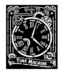 """Трафарет объемный """"Часы"""", толщина 0,5 мм, 20х25 см, Stamperia KSTD071"""