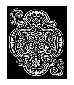 """Трафарет объемный """"Ателье - кружева"""", толщина 0,5 мм, 20х25 см, Stamperia KSTD073"""