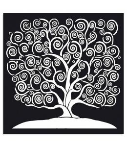 "Трафарет объемный ""Дерево жизни"", толщина 0,25 мм, 30х30 см, Stamperia KSTDG05"