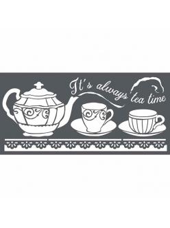 Трафарет объемный Время пить чай, толщина 0,25 мм, 12х25 см, Stamperia