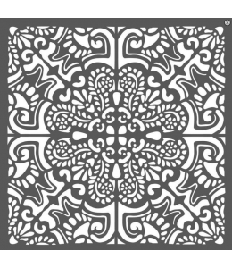 "Трафарет объемный ""Плитка азулежу"", толщина 0,5 мм, 18х18 см, Stamperia KSTDQ26"