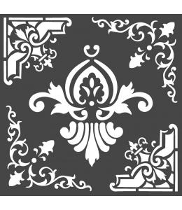 "Трафарет объемный ""Орнаменты"", толщина 0,25 мм, 18х18 см, Stamperia KSTDQ55"