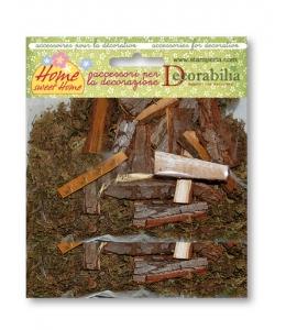 Элементы декорирования мох и кора для миниатюрных композиций, 55 г, Stamperia (Италия)