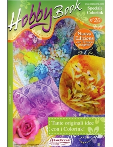 """Журнал """"Hobby Book"""" № 20 Stamperia """"оригинальные идеи с красками Colorink"""" на итальянском языке"""