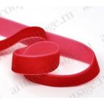Декоративная бархатная лента, красная, 1см, 90 см, Stamperia (Италия)