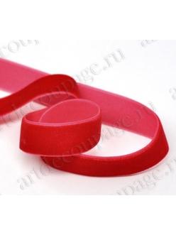 Декоративная лента красная бархатная, 1см х 10 м, Stamperia