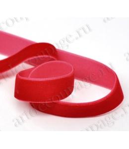Декоративная бархатная лента, красная, 1см х 10 м, Stamperia (Италия)