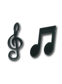 Брадсы Ноты, скрипичный ключ, металлические, Stamperia, 24 шт