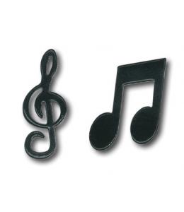 "Брадсы ""Ноты, скрипичный ключ"" металлические, Stamperia, 24 шт"