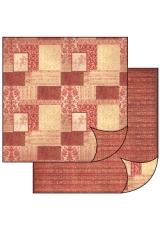 "Бумага для скрапбукинга двусторонняя ""Орнамент темно-красный"" Stamperia, 31,2х30,3 см"