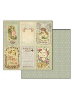 Бумага для скрапбукинга Винтажные открытки, Stamperia, 31,2х30,3 см