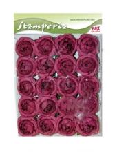 """Цветы бумажные для декорирования """"Сиреневые розы"""", 20 шт, 3,5 см, Stamperia"""