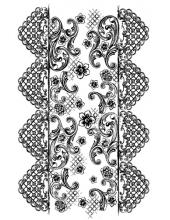 "Штамп силиконовый WTK110 ""Кружевная лента"", 7х11 см, Stamperia"