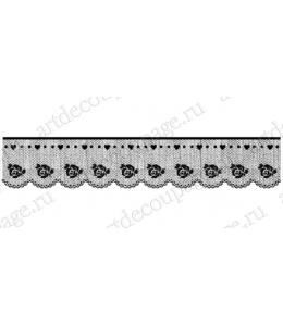 """Штамп силиконовый WTK136 """"Кружево с розами"""", Stamperia, 3,5х17 см"""