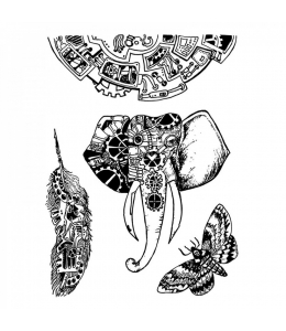 """Набор резиновых штампов """"Механические животные"""", Stamperia, 15х20 см"""