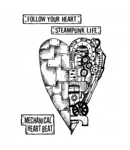 """Набор резиновых штампов """"Механическое сердце"""", Stamperia, 15х20 см"""