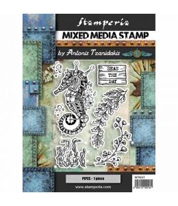 """Набор резиновых штампов """"Морской конек"""", Stamperia, 15х20 см"""