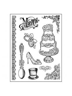 Штампы резиновые Свадебные элементы, 10 шт., Stamperia, 14х18 см