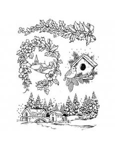 """Набор резиновых штампов """"Новый год и Рождество"""", Stamperia, 14х18 см"""