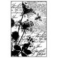 """Штамп резиновый на резиновой основе """"Полевые травы и пчелы"""", Stamperia, 7х11 см"""