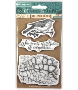 "Набор штампов на резиновой основе ""Космос, птица"" 10х16,5 см, Stamperia WTKCCR02"