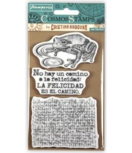 """Набор штампов на резиновой основе """"Космос, лягушка"""" 10х16,5 см, Stamperia WTKCCR04"""