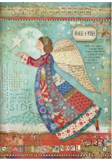 """Рисовая бумага для декупажа Stamperia DFSA4407 """"Ангел, исполняющий желания"""", формат А4"""
