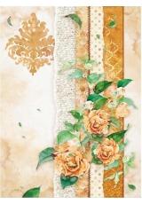 "Рисовая бумага для декупажа Stamperia DFSA4416 ""Цветы для вас, желтый"", формат А4"