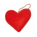 Заготовка Сердце из фетра на подвесе, 7 см, цвет красный, Stamperia (Италия)