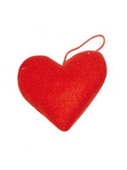 Заготовка из фетра Сердце на подвесе, 7 см, цвет красный, Stamperia (Италия)