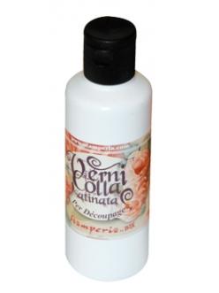 Лак клей финишный 2 в 1 с эффектом глазури Verni colla satinata, Stamperia, 80 мл